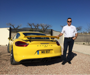 Mike Marot and his Porsche GT4